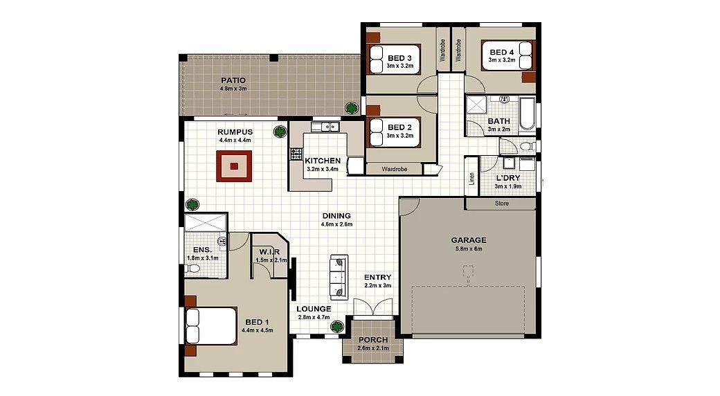BJH007 Floor Plan
